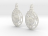Botanika Mechanicum Earrings 3d printed