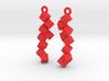 Earrings Falling cubes 3d printed
