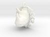 Rhino pendant 3d printed