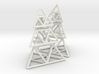 triangle pyramid earring stack 3d printed