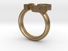 Confused Emoticon Ring :S 3d printed