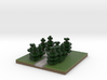 30x30 L path (pine trees) (1mm series) 3d printed