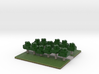 60x60 straight path (white trees) (2mm series) 3d printed