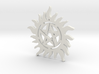 Supernatural warding pendant 3d printed