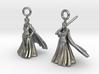 Nell earrings 3d printed