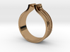 WOOD & NAIL Ring 3d printed