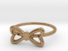Knuckle Bow Ring, subtle and chic. 3d printed