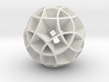 Rhombicosidodecahedron (wide) 3d printed