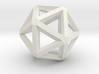 Icosahedron Thick Wireframe 25mm 3d printed