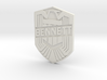 Bennett Badge 3d printed