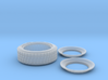 1/12 (3 pc.) Racemaster Rear Midget Tire  3d printed