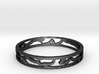 The Web Ring  Ring Size 7 3d printed