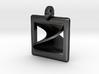 moebius square pendant 3d printed