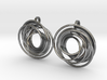 twin rail mobius earrings pair 3d printed