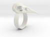 Realistic Raven Skull Ring - Size 9 3d printed