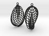 Running in Circles - Earrings (L) 3d printed