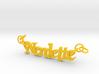Nerdette Pendant 3d printed
