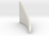 "Right-handed ""Salsero"" wholetone panpipe 3d printed"