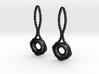 Lifebuoy earrings 3d printed