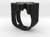 snow flake ring 3d printed