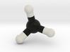 Methane Molecule Model, Small 3d printed