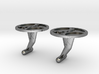 Double Gear Cufflinks 3d printed