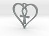Heart Ankh Pendant 3d printed