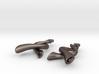 Twisted Horn earrings 3d printed