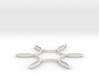 Hexafoil Pendant 3d printed