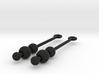 Three Orbs - Earrings 3d printed