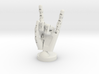 Cyborg hand posed rock small 3d printed