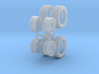 "1:48 Scale 14"" Turbine Wheels and 195/50R14 Tires 3d printed"