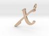 X Classic Script Initial Pendant 3d printed