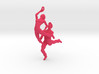Dance LOVE Pendant-Earring 3d printed necklace