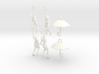 earring set: Umbrella girls 3d printed