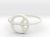 Peace Midi Ring, knuckle ring, by titbit 3d printed