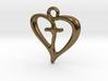 Cross My Heart Pendant 3d printed