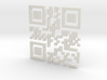 Bitcoin QR Code 3d printed