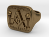 Size 9.5 Mason Ring 3d printed