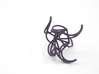 Aster Ring (Large) Size 7 3d printed Custom Dyed Color (Midnight)