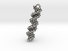 DNA Molecule Earring / Pendant Silver 3d printed