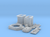 1/24 T-44 Transaxle With Ford 427 SO Bellhousing 3d printed