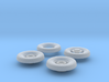 1:35 18 24 240mmgun Wheels Frontrear 3d printed