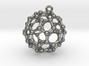 BuckyBall C60 Earring, Silver, 1,7cm 3d printed