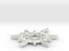 Double Hexafoil Pendant 1/2-Size 3d printed
