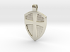Cross & Shield pendant 3d printed