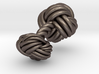Woven Knot Cufflink 3d printed