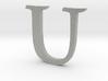 U (letters series) 3d printed