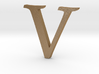 V (letters series) 3d printed