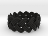Turk's Head Knot Ring 3 Part X 13 Bight - Size 7.5 3d printed